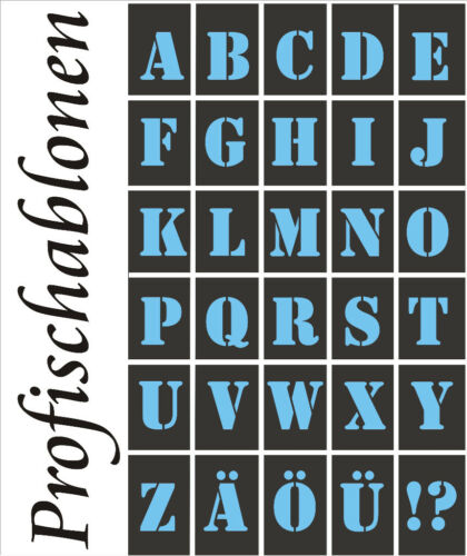 Étiquette police Gabarits texte buchstabensatz A-Z majuscules 2-20 cm