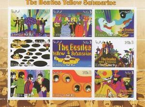THE-BEATLES-YELLOW-SUBMARINE-JOHN-LENNON-PAUL-MCCARTNEY-2003-MNH-STAMP-SHEETLET