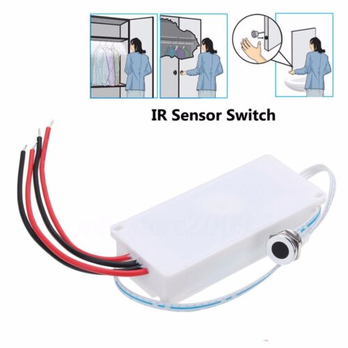 Touchless IR Sensor Motion On//Off Light Switch For Kitchen Mirror Cabinet Light*