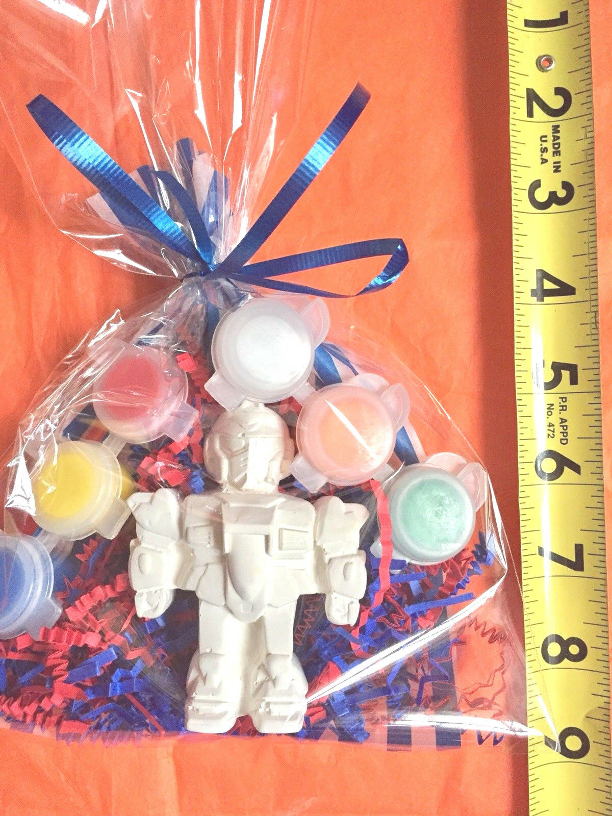 10  Transformer, robot party favors to paint   10 bags  Boys birthday.Creative.
