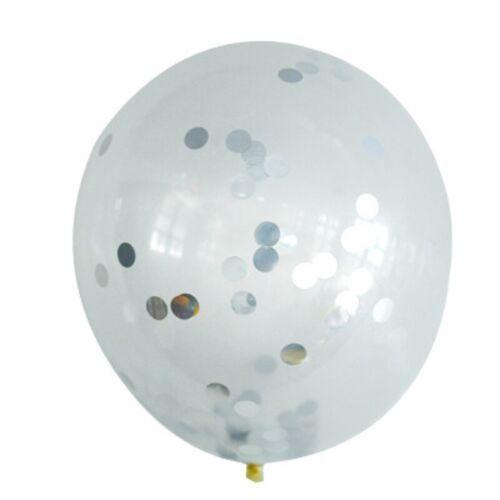 10//20pcs Chrome Confetti Balloons Bouquet Birthday Party Decor Metallic Wedding
