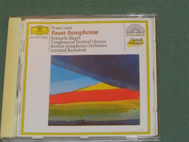 LISZT: FAUST SYMPHONY. Boston SO/Bernstein.. DGG CD German pressing.
