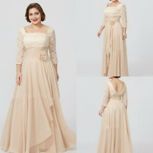 4 Sleeve Lace Evening Gowns
