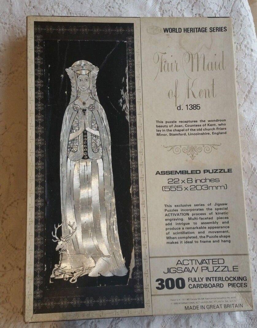 Very Rare Vintage 1978 Philmar World Heritage Series  Fair Maid of Kent  300 pce