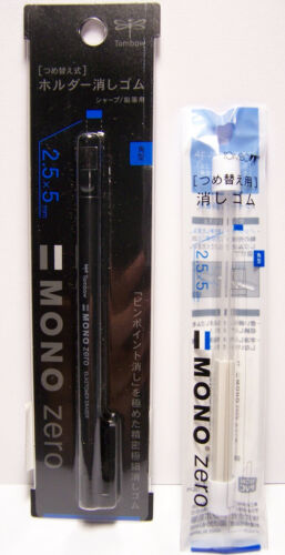 Tombo Mono Zero Drawing Eraser /& Refill High Quality Precision Won/'t Dmg Papers