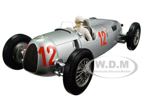 AUTO UNION TYPE C 1936 BUDAPEST GP HANS STUCK #12 1/18 BY MINICHAMPS 155361012