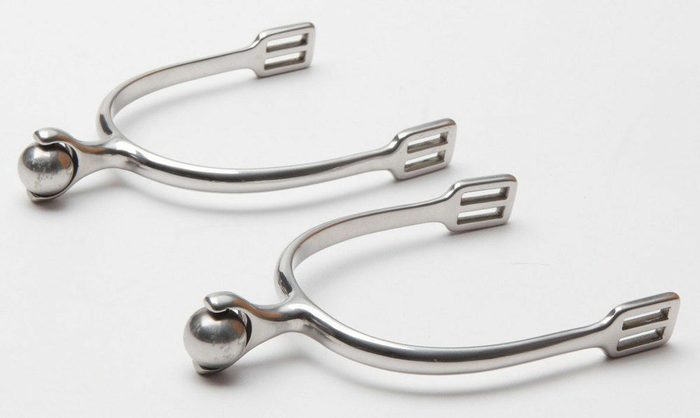 Zilco Spurs with Solid Roller Ball Equestrian horse rider FREE POSTAGE