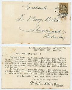 53181-Postkarte-Wehr-Bz-Aachen-8-6-1926-Dank-fuer-Almosen