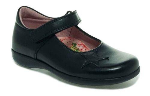 Petasil Benilde Girls Black Leather E /& F School Shoes 100/% Positive Reviews
