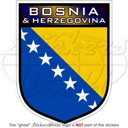 "BOSNIA /& HERZEGOVINA Scudo 100mm Moto-Casco Adesivo in Vinile Decalcomania 4/"""