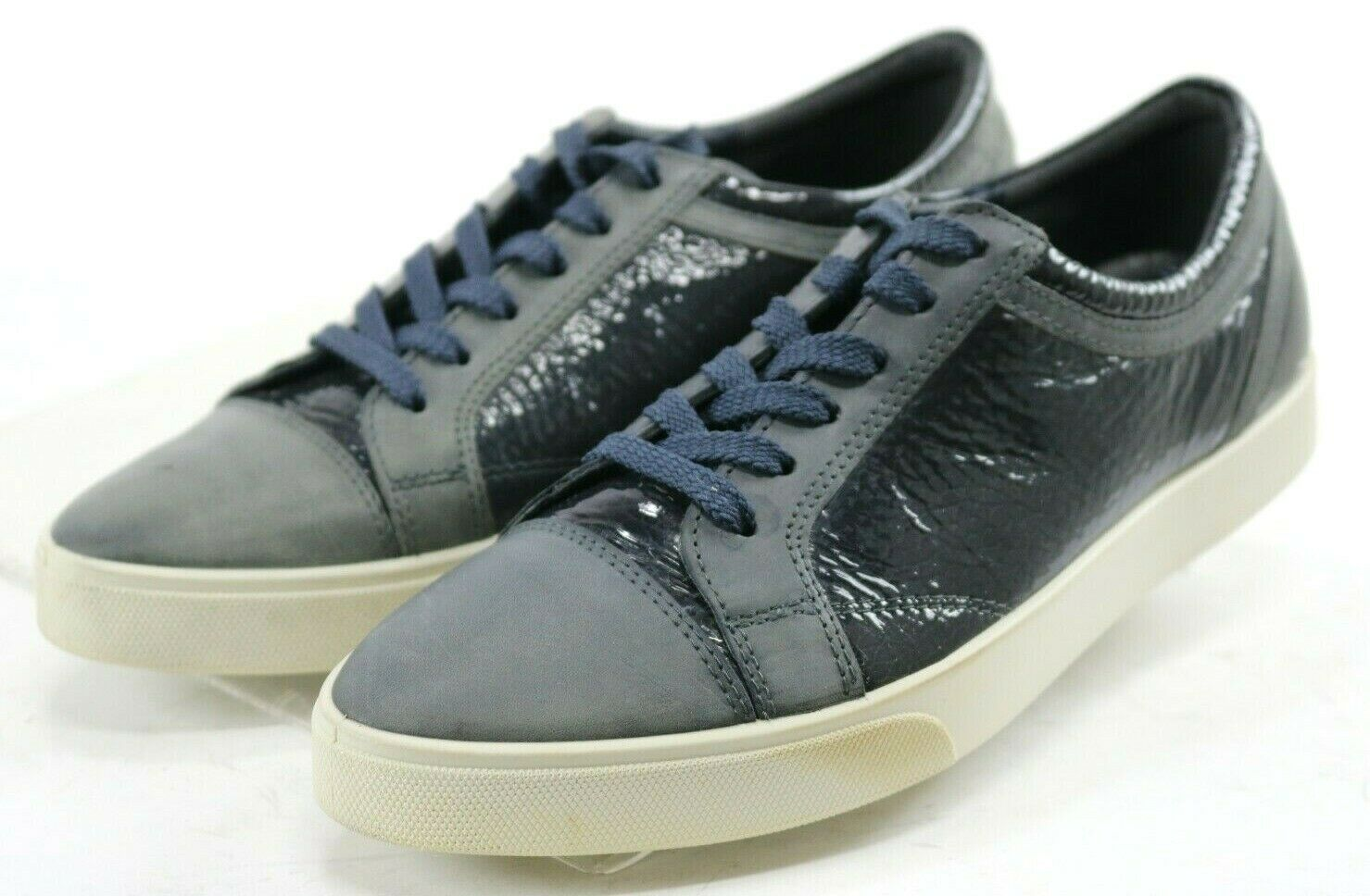 ECCO Women's  Sneakers shoes Size US 9-9.5 Patent Leather bluee