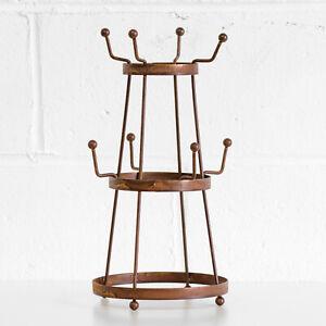 Round-Vintage-Metal-Mug-Tree-Cup-Stand-Holder-Retro-Kitchen-Storage-Accessories