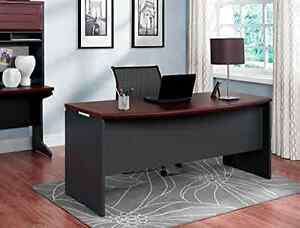 Details About Executive Office Desk Home Business Furniture Large Modern Dark Wood Cherry Work