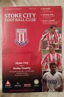 Stoke City v Derby County Friendly Programme 04/08/01