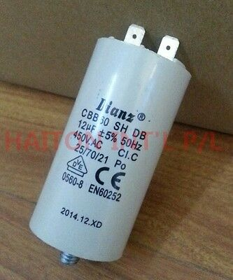 Brand New DIANZ MOTOR RUN CAPACITOR WITH BOLT 12uf 450VAC 50HZ