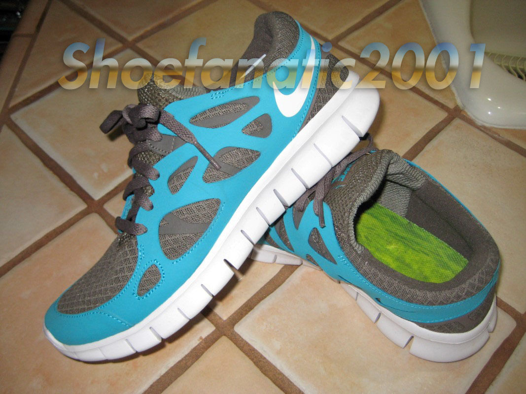 Nike Free 2 Plus Smoke Turquoise Runner Trainer Supreme 7.5