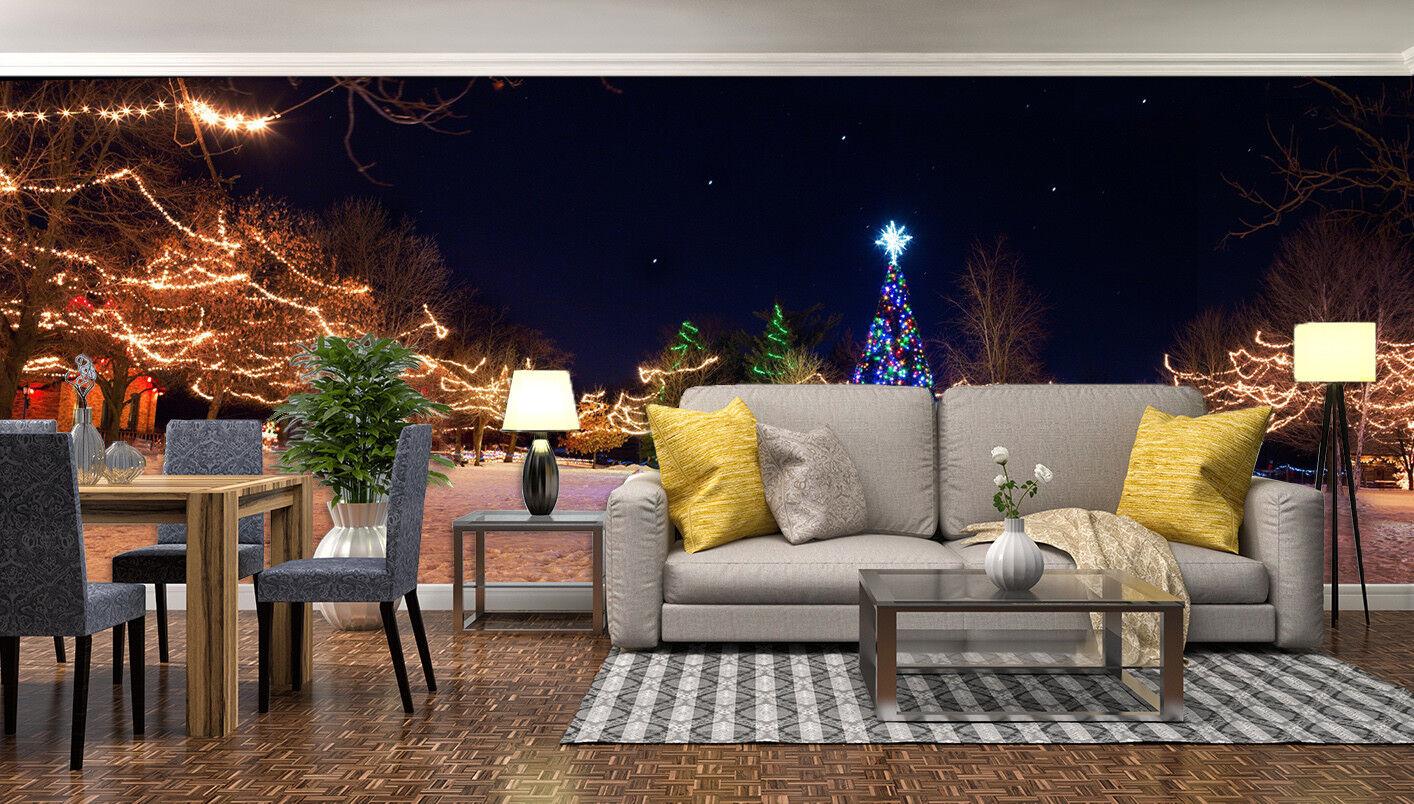 3D Light Pine 706 Wallpaper Murals Paper Wall Print Wallpaper Mural UK