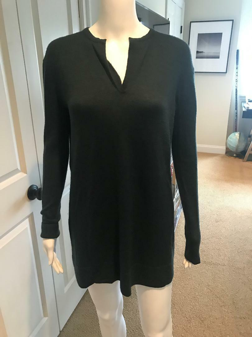 The Row Forest Green Cashmere Sweater Tunic