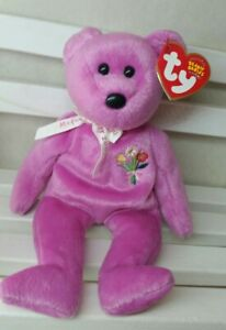 """TY Beanie Babies  """"MOTHER 2004"""" Mother's Day Teddy Bear - NEW w/tag protector"""