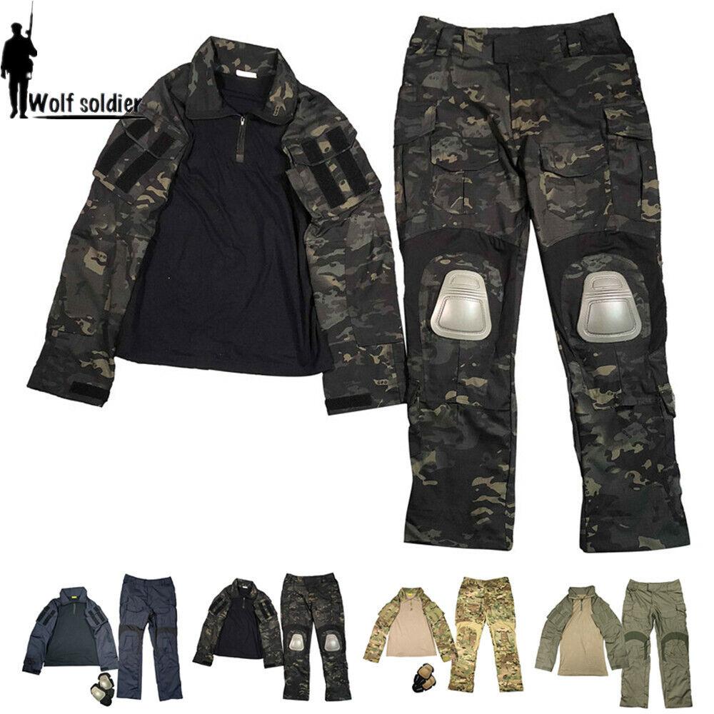 Para hombre traje de combate táctico Gen3 Military Camiseta Pantalón De Camuflaje Del Ejército Bdu uniforme