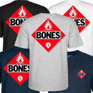 Detalles de Powell Peralta Inflamable Skate Camiseta Bones Brigade
