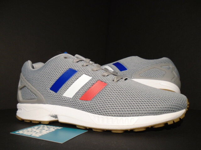 2017 ADIDAS ZX FLUX TRI COLOR GREY WHITE RED blueE GUM NMD R1 XR1 BB2768 NEW 9.5