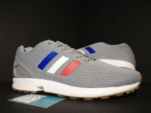sports shoes 4afa3 3da74 Image is loading 2017-ADIDAS-ZX-FLUX-TRI-COLOR-GREY-WHITE-