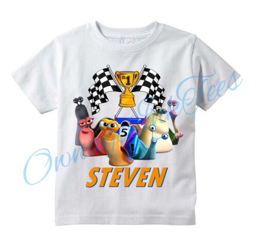 Turbo DreamWorks Movie Custom T-shirt PERSONALIZE tshirt Birthday