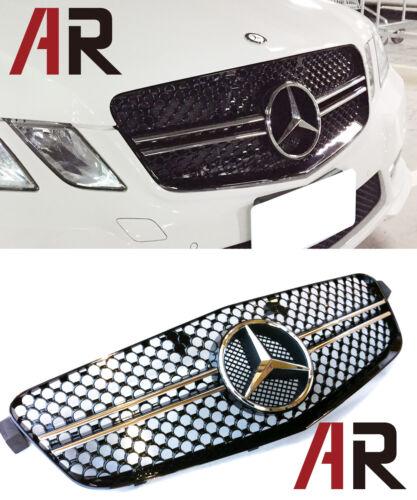 M-Benz 2010-2013 W212 E250 E350 E550 4Dr Chrome//Black Front Replacement Grille