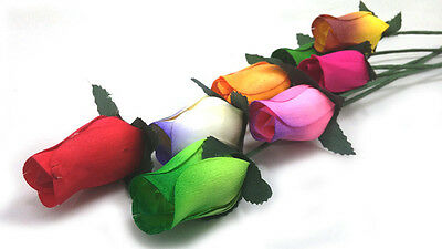 A:Customize Your Own Colors (up to 21 colors) of Wooden Roses 12/24/40/48 pieces