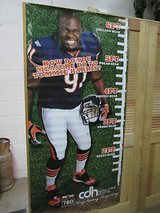 Chicago-Bears-Tommie-Harris-6-Foot-Poster-uncirculated-radio-talk-show-poster