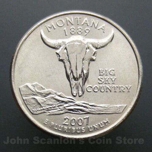 2007-P Montana State Quarter 25c US Mint Coin Choice BU