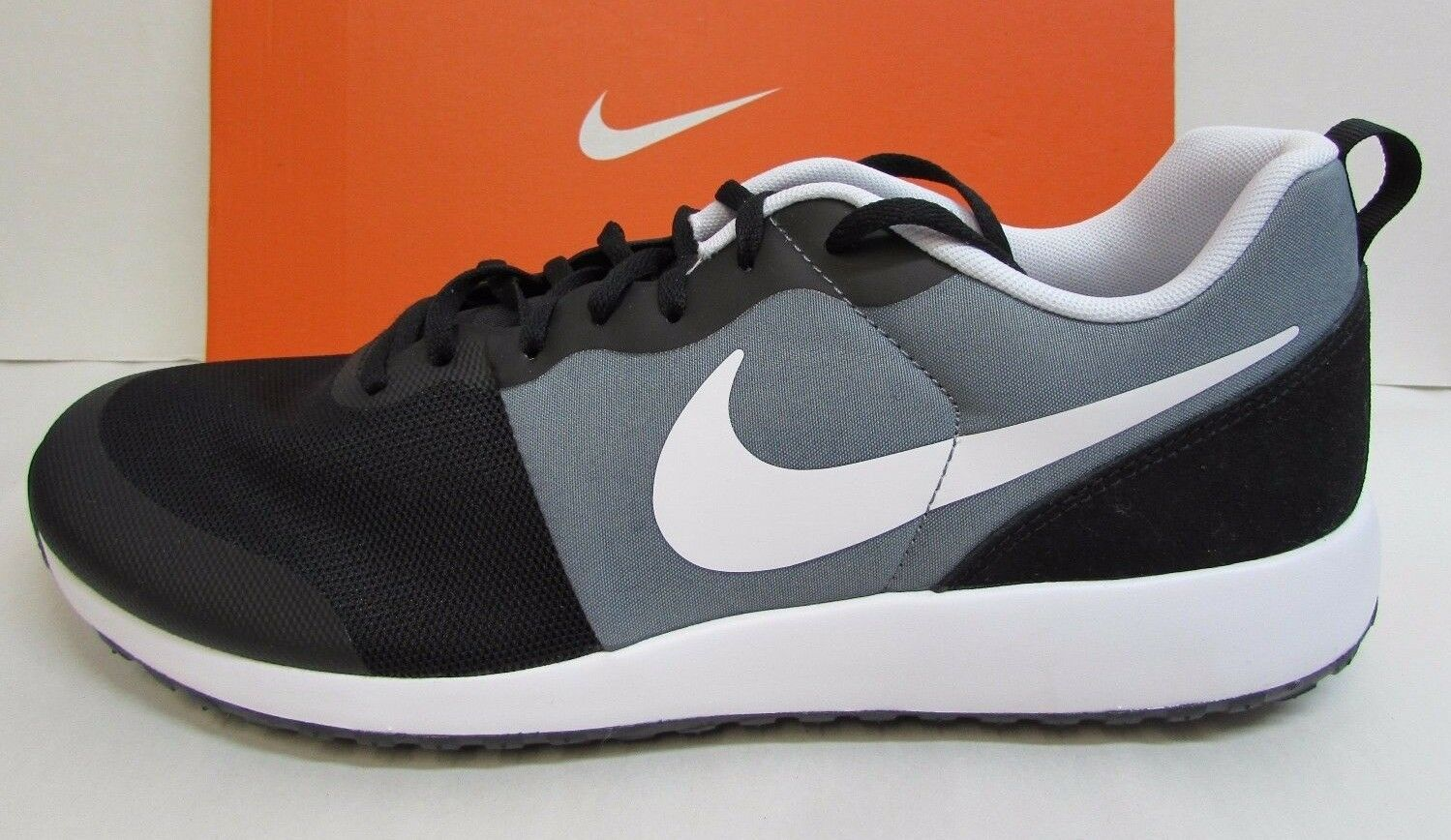 Nike Size 13 Black Gray Running Sneakers New Mens Shoes