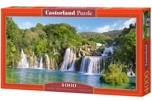 "Castorland Puzzle 4000 Pieces KRKA WATERFAL 138x68cm 54""x27"" Sealed box C-400133"