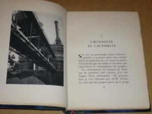 DUHAMEL-Georges-L-039-Humaniste-amp-l-039-automate-EO-Relie-1933-Superbes-Photographies