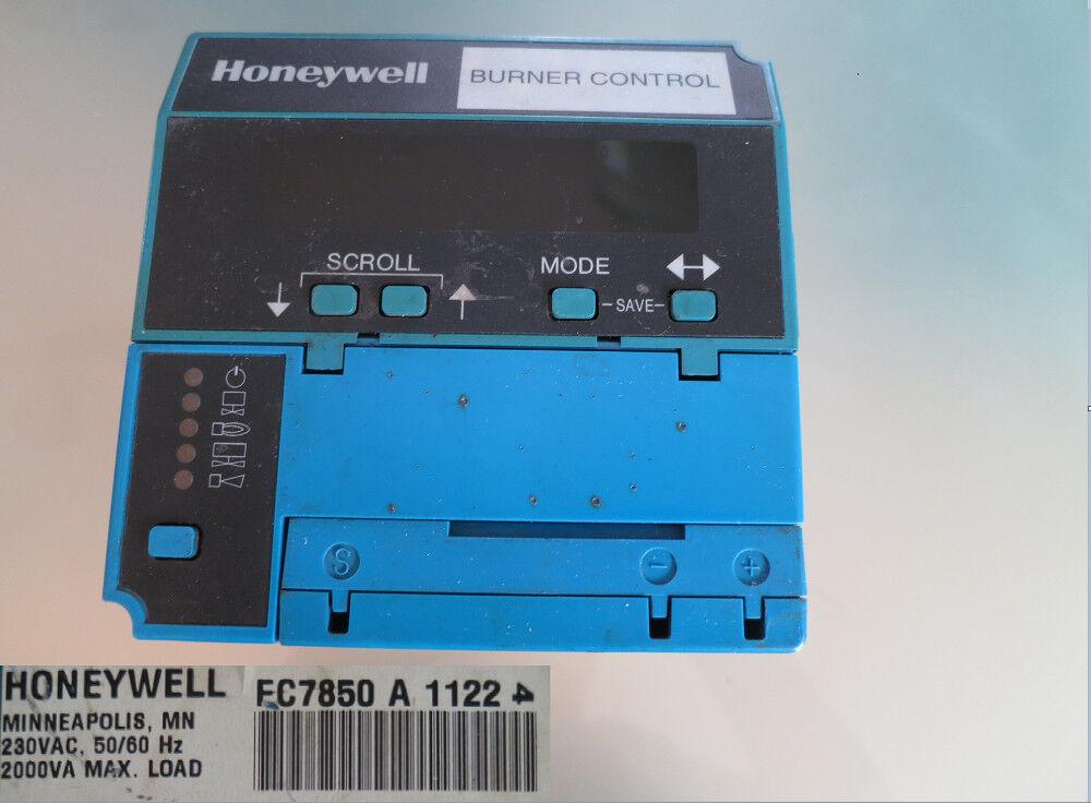 Honeywell Burn Control FC7850 A 1122   13-4    714 e2de1a