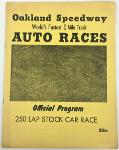 Oakland-Speedway-Auto-Races-Program-250-Lap-Stock-Car-Race-NASCAR-1953
