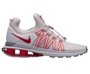 ccef819d2e8c4 La imagen se está cargando Nueva-para-Dama-Nike-Shox-Gravedad-Blanco-Rojo-