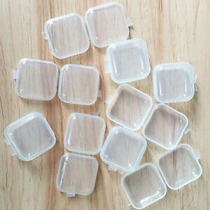 50Pcs-Small-Plastic-Clear-Transparent-Storage-Collection-Square-Container-Case