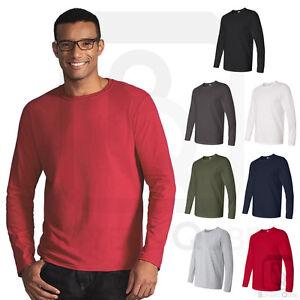 99872c9b14d Gildan Mens Softstyle Long Sleeve T-Shirt Cotton Basic Tee S-3XL ...