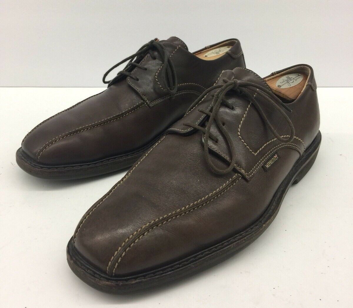 440 MEPHISTO GoodYear Air-Relax Air-Relax Air-Relax Brown Shock Absorber Shoes Uomo Sz 9.5 us d2bfc3