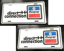 Mopar Direct Connection License Plate Two Pack NEW 70's Dodge Plymouth