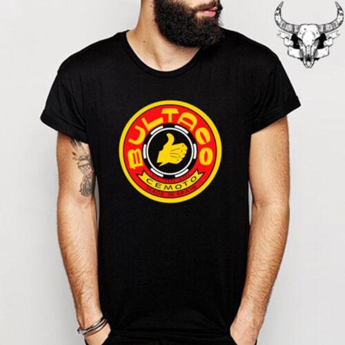 BULTACO Spain Motorcycle Red Logo Men/'s Black T-Shirt Size S to 3XL