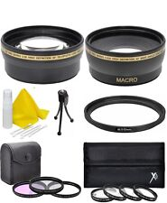 Wide Telephoto Filter Set for Samsung NX 20-50mm Lens NX2000 NX500 NX300 NX30 +