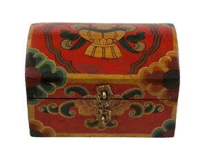 Cofanetto Scatola A Ciondolo Tibetano 15cm Artigianato Tibet-Nepal - 9767