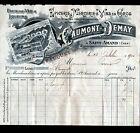 """SAINT-AMAND-MONTROND (18) EPICERIE MERCERIE """"CAUMONT & DEMAY / FAUQUET"""" en 1900"""