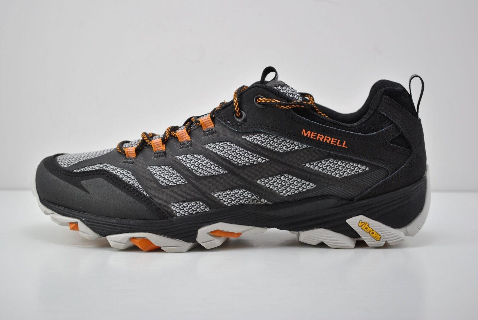 Mens Mens Mens Merrell Moab FST Trail Running scarpe Dimensione 8.5 nero bianca arancia J35779 40a0bd
