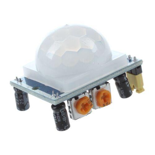 2X S2 HC-SR501 Mensch Sensor Modul Pyroelektrisches Infrarot Blau G5S1