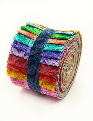2 5 Inch Feathered Jelly Roll 100 Cotton Fabric Quilting