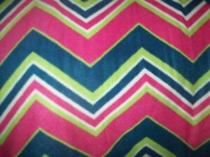 Chevron pink blue lime green personalized fleece blanket 45x30 ebay